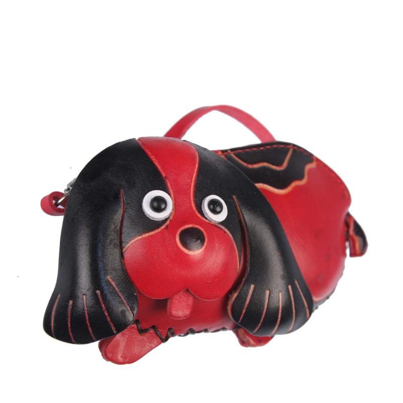 Leather Keychain Dog C178
