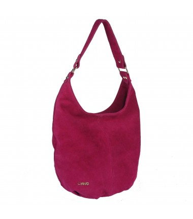 Suede handbag EC027 Elizabet Canard