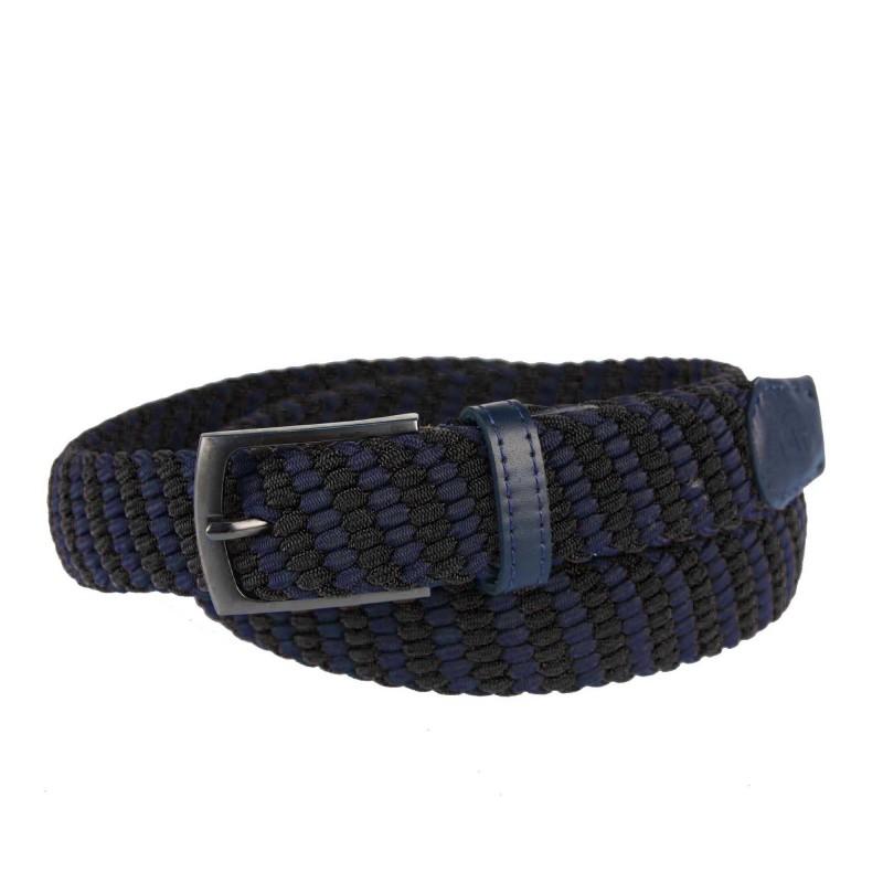 Men's belt PAM1009-35 NAVY-BLACK