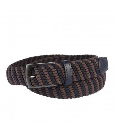 Men's belt PAM1009-35 NAVY-BROWN