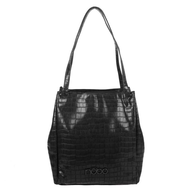 Lacquered handbag L2121 NOBO croco