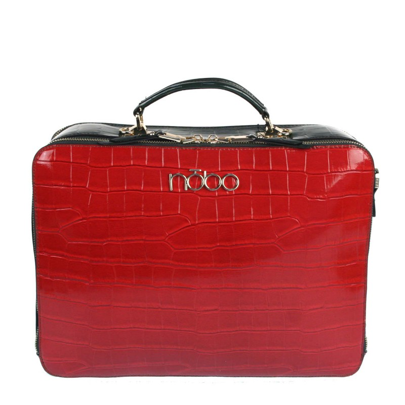 The L2170 NOBO lacquered bag in the type of a briefcase
