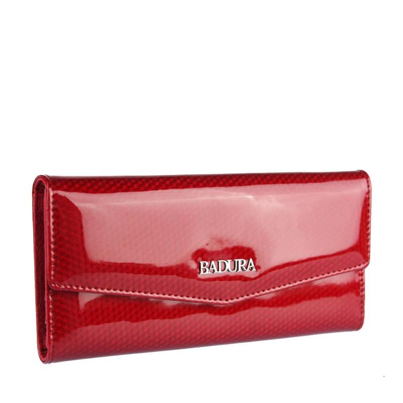 Lacquered Leather Wallet B-43877P-SBR Badura