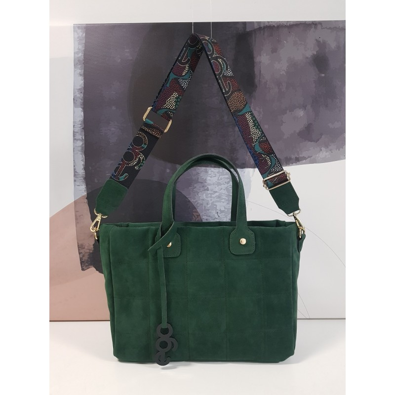 Rectangular quilted bag MG295PIKET A5 EGO suede
