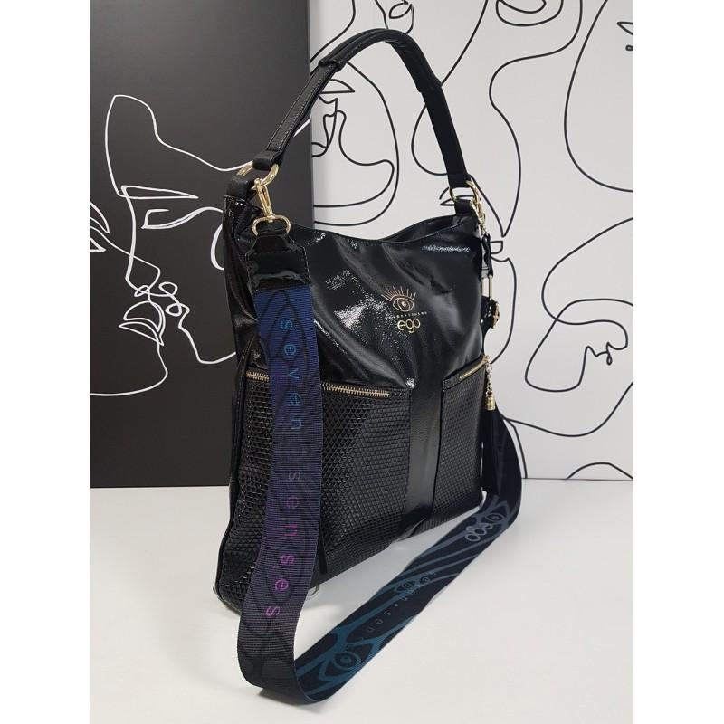Large, varnished handbag 21052SS F2 EGO Seven Senses
