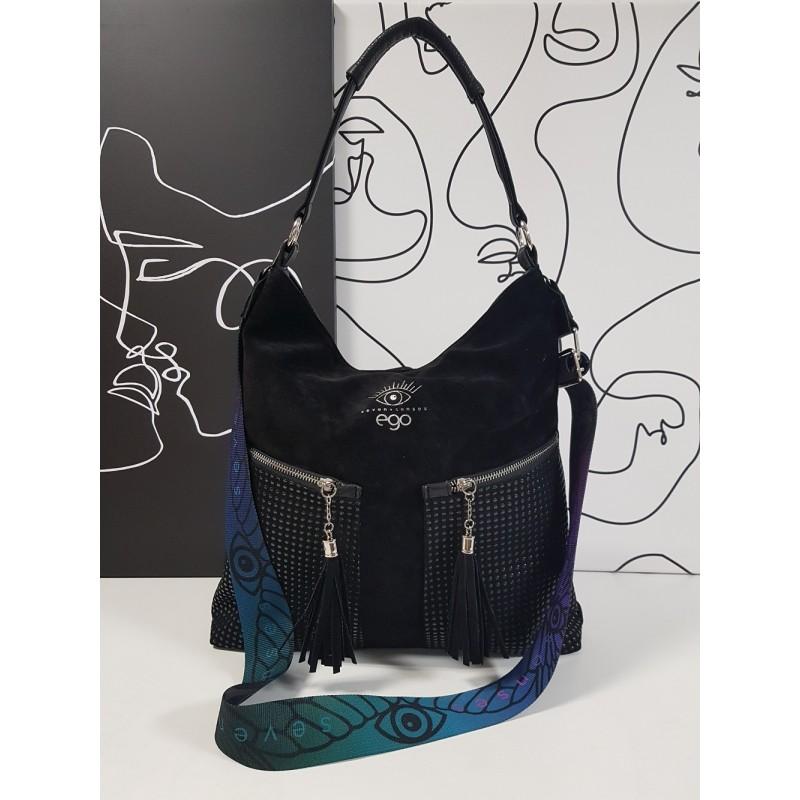 Large suede handbag 21052SS F5 EGO Seven Senses