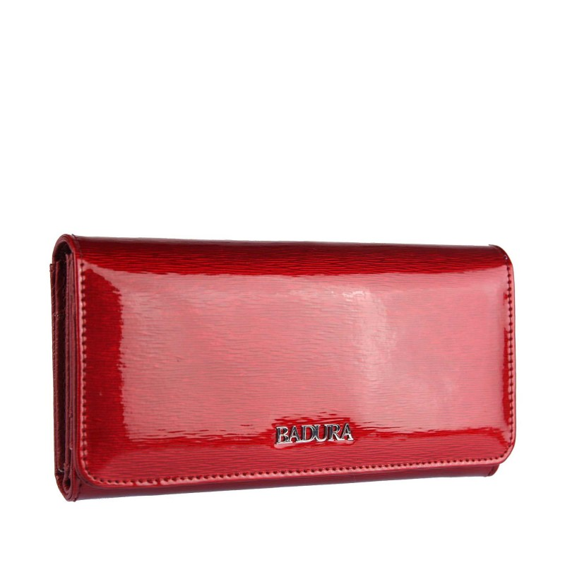 Lacquered leather wallet Badura B-43878P-SH