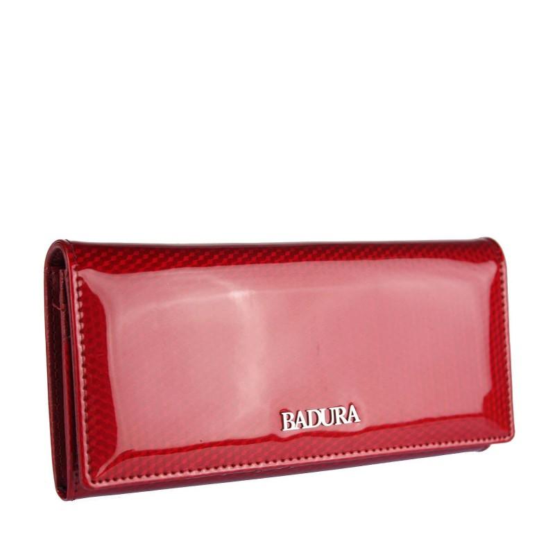 Patent leather wallet BADURA B-72401P-SBR