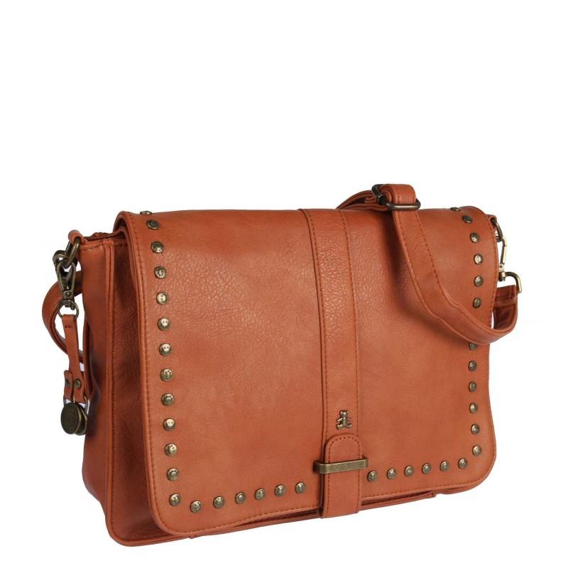Messenger bag LULU-A20-104 LULU CASTAGNETTE with studs
