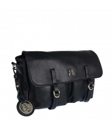 Messenger bag LULU-A20-081 LULU CASTAGNETTE with a flap