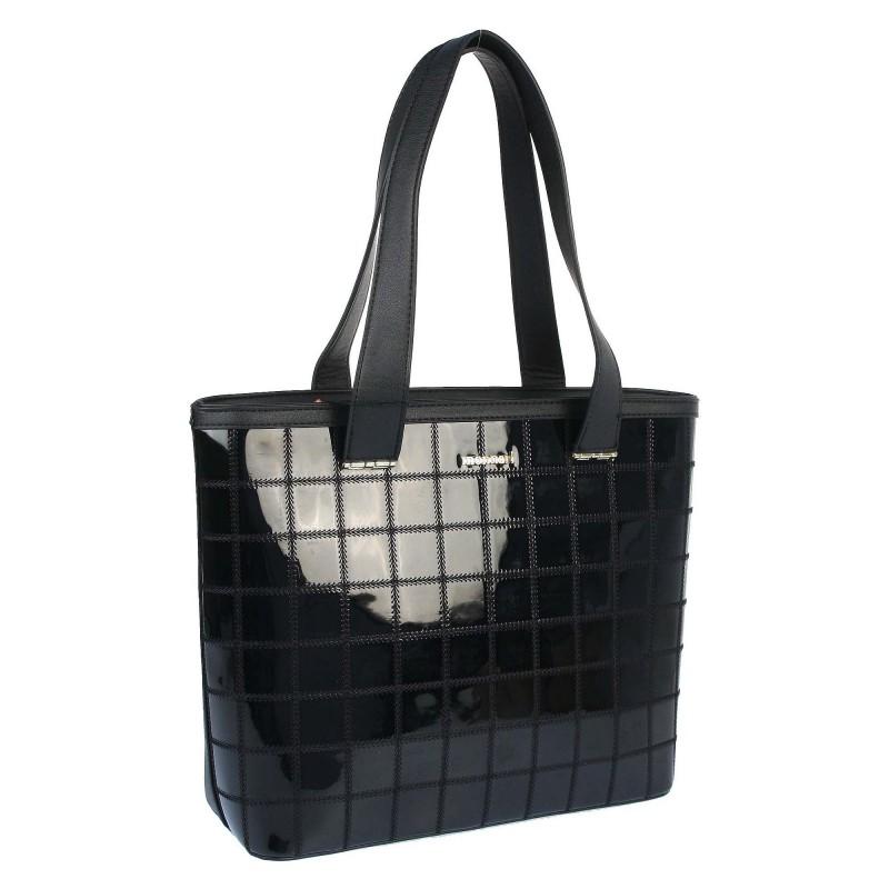 Varnished bag with stitching 459021JZ Monnari